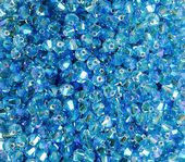 25 x 4mm SWAROVSKI® ELEMENTS Light Sapphire AB2x Xilion Beads
